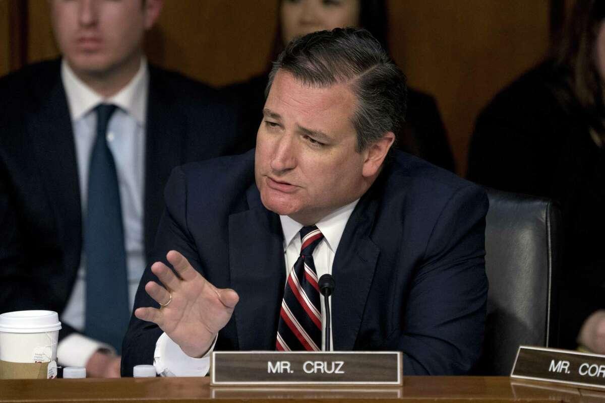 Texas Sen. Ted Cruz on Capitol Hill in Washington last week. Cruz, a Republican, faces Democratic challenger Beto O'Rourke in the November midterm election.
