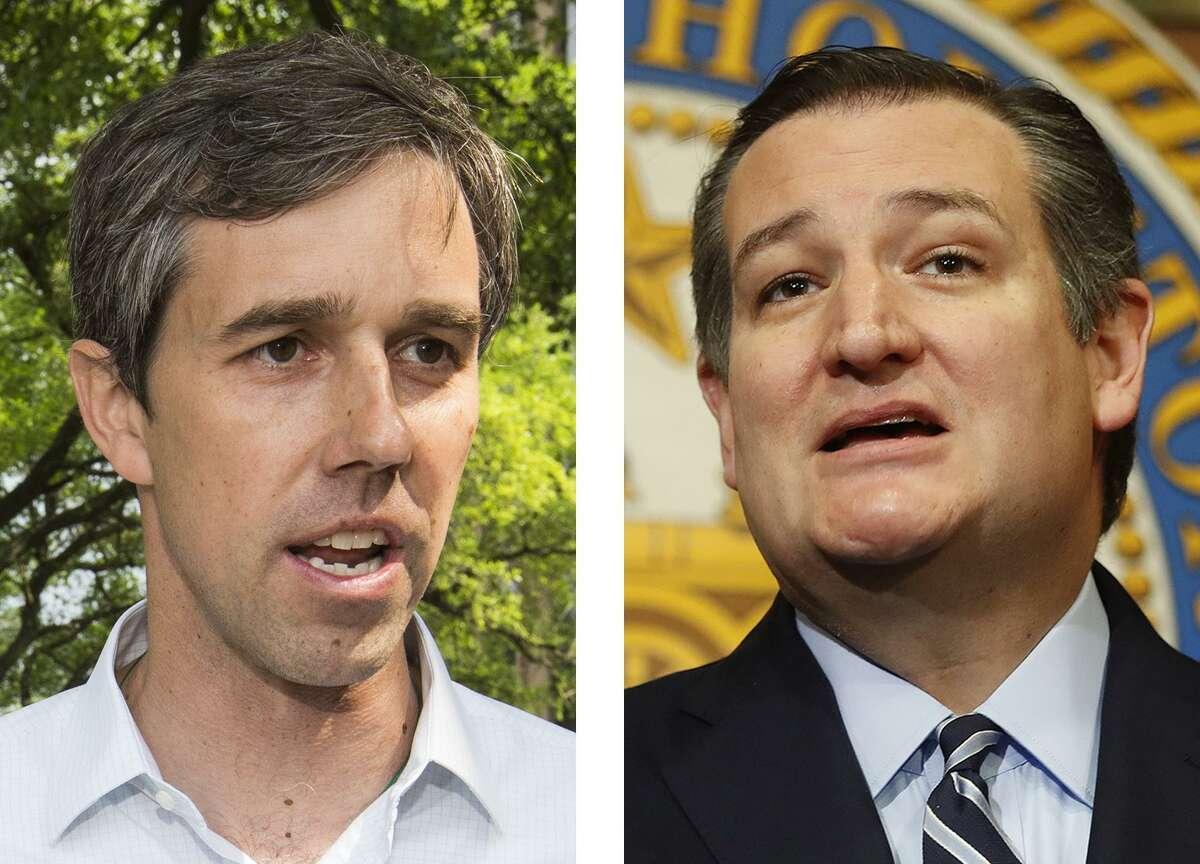 Rep. Beto O'Rourke, D-Texas, left, and U.S. Sen. Ted Cruz, R-Texas. Houston Chronicle photos by Brett Coomer, left, and Karen Warren.