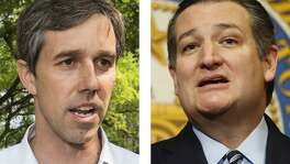 Rep. Beto O'Rourke, D-Texas, left, and U.S. Sen. Ted Cruz, R-Texas. Houston Chronicle photos by Brett Coomer, left, and Karen Warren.