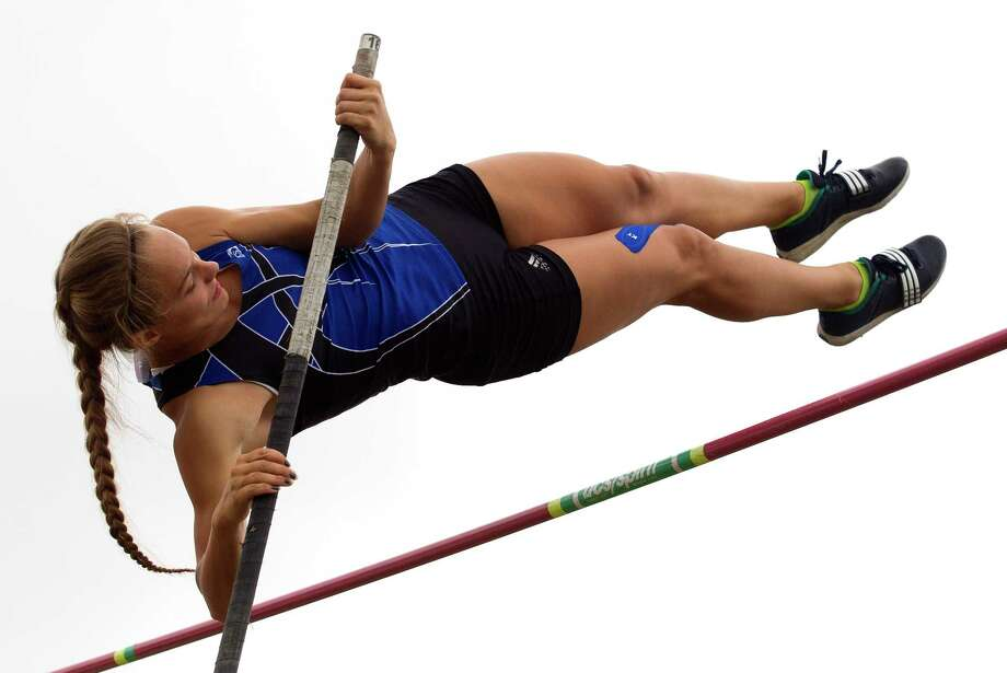 Nastassja Campbell of New Caney competes in the girls pole vault during the Region III-5A track and field championships at Turner Stadium, Saturday, April 29, 2017, in Humble. Photo: Jason Fochtman, Staff Photographer / © 2017 Houston Chronicle