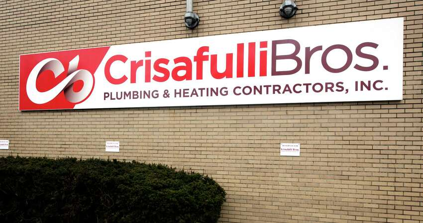 Exterior signage at the Crisafulli Bros headquarters on Livingston Ave., Albany, N.Y. (Skip Dickstein/Times Union)