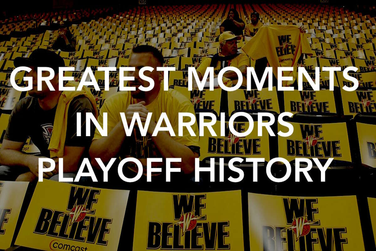 Click ahead to see some of the greatest moments in Golden State Warriors playoff history.