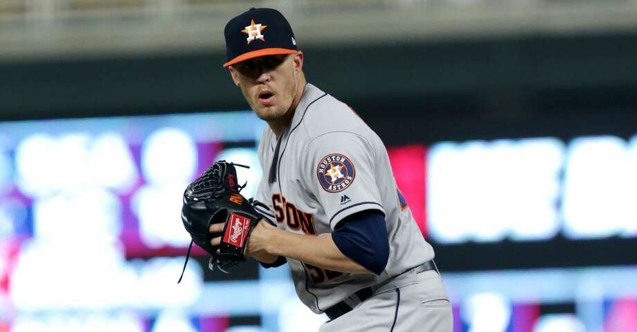 Houston Astros pitcher Ken Giles (53) against the Minnesota Twins during a baseball game Monday, April 9, 2018 in Minneapolis. (AP Photo/Andy Clayton-King) Photo: Andy Clayton-King/Associated Press