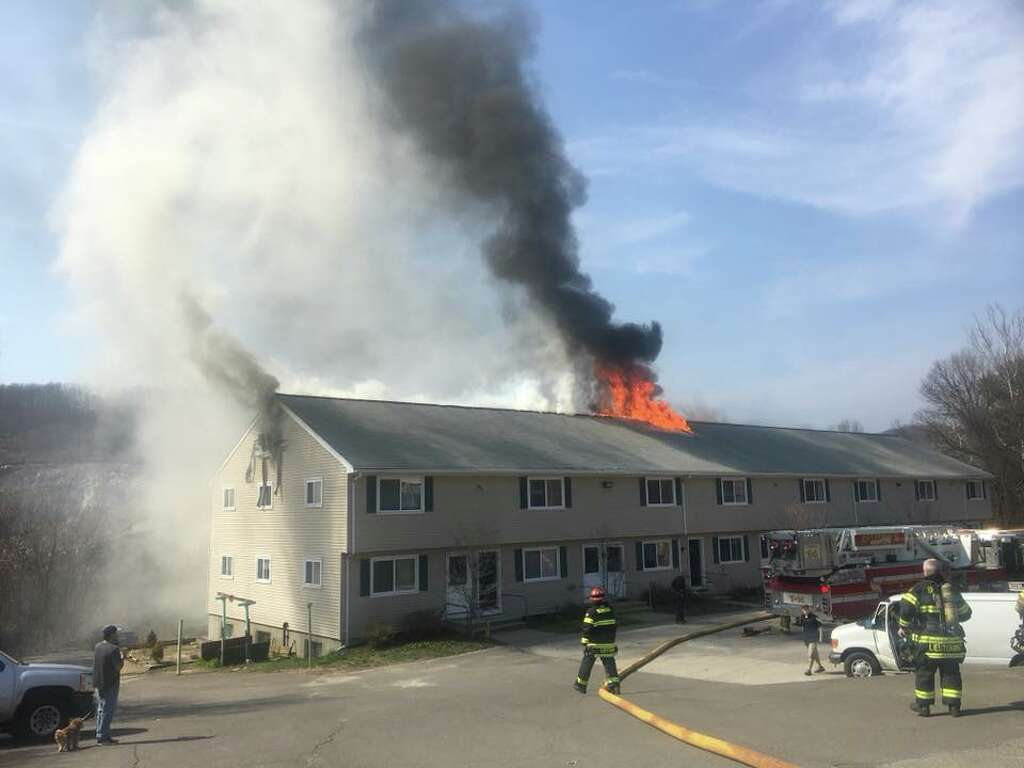 Perfect Firefighters Are Working To Extinguish A Fire In Town Saturday, April 14,  According To