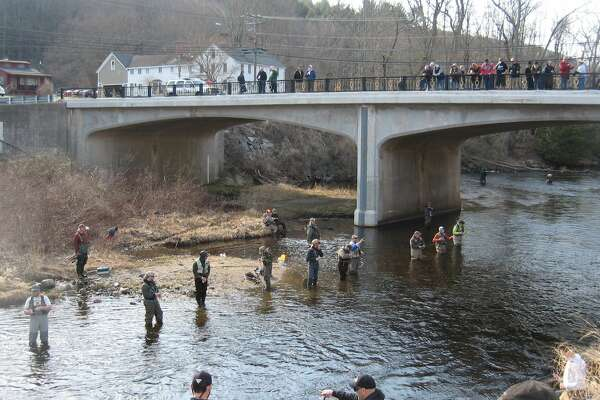 Anglers in the Farmington River.