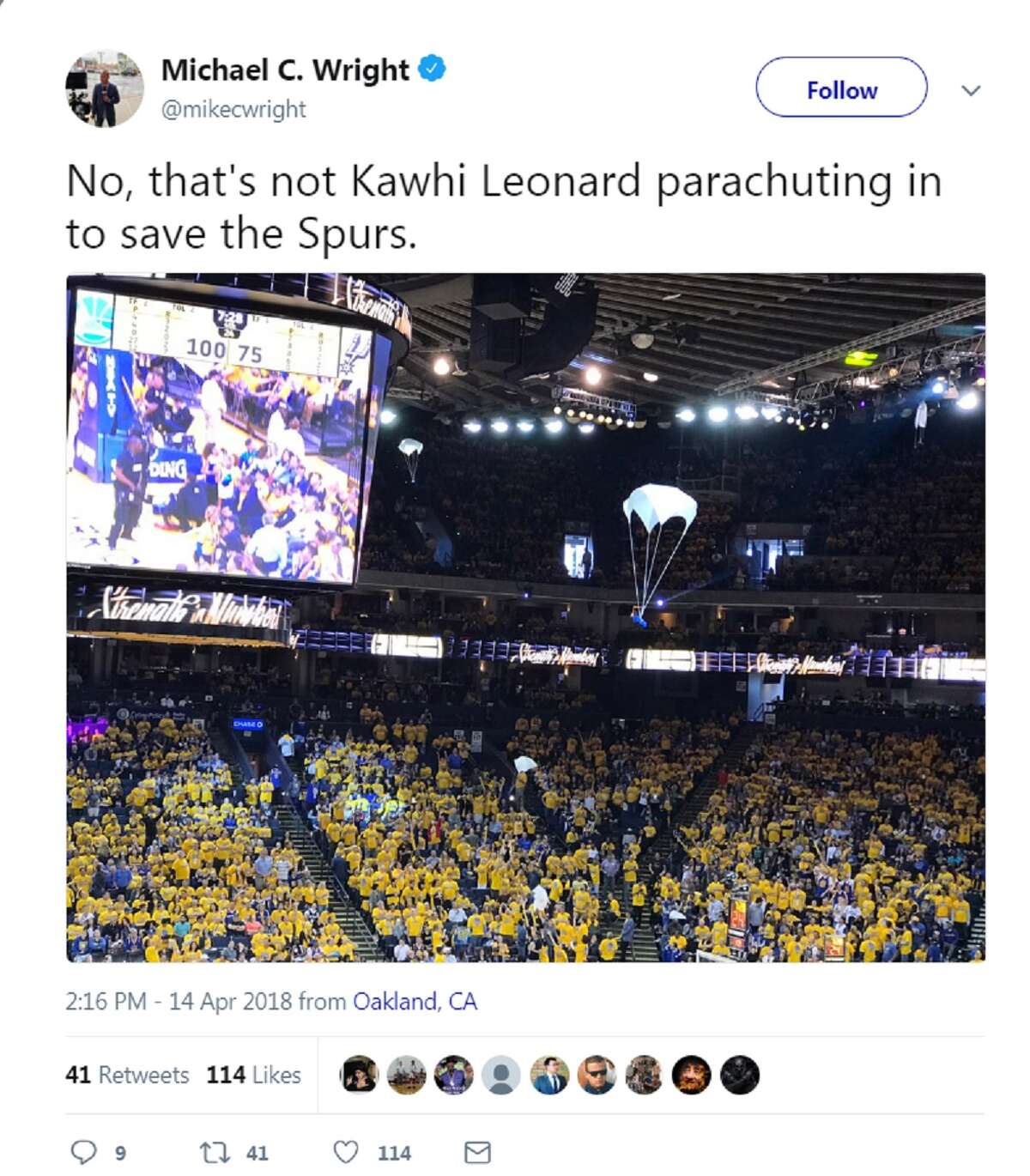 Kawhi Leonard's strange absence from Game 1 of the Spurs playoff series against the Golden State Warriors drew a flood of criticism on social media.
