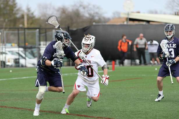 The Yale men's lacrosse team clinched a share of the Ivy League regular-season title with a win over Brown on Saturday.