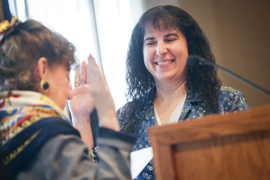 County Auditor Phyllis Martin is sworn in by Judge Kathleen Hamilton during the Montgomery County Ceremony to Administer Oath of Office on Sunday, Jan. 1, 2017, at the Lone Star Convention Center. Photo: Michael Minasi, Staff / © 2017 Houston Chronicle