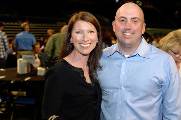 Heather and David Shoemaker at the Greater Beaumont Chamber of Commerce's Lobsterfest at Ford Park.  Photo taken Saturday 4/14/18 Ryan Pelham/The Enterprise