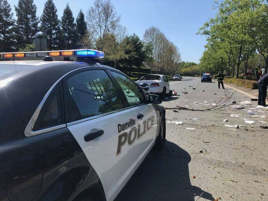 A Milpitas man driving a stolen car was arrested Saturday in Danville after a brief police chase that ended with him crashing the vehicle, officials said.