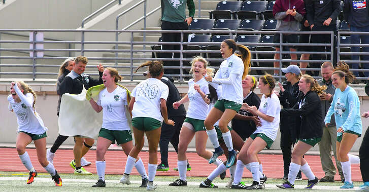 Kingwood Park players celebrated their regional win against Tomball.