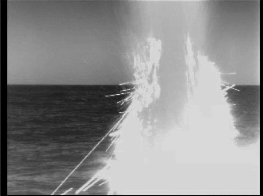 "In this image from video provided by the U.S. Navy, a U.S. fast-attack submarine launches a tomahawk missile on April 14, 2014, from the Mediterranean Sea as part of a U.S.-led military operation in retaliation for Syria using chemical weapons on April 7. President Donald Trump declared ""Mission Accomplished"" for a U.S.-led allied missile attack on Syria's chemical weapons program, but the Pentagon said the pummeling of three chemical-related facilities left enough others intact to enable the Assad government to use banned weapons against civilians if it chooses.(U.S. Navy via AP) / U.S. Navy"