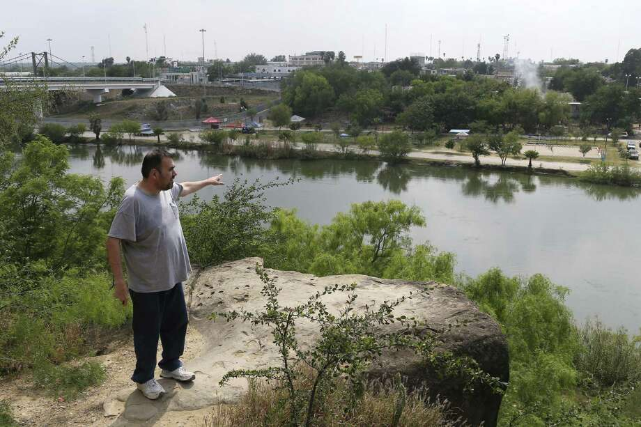Jaime Salinas, 45, talks about the Roma Bluffs, Wednesday, March 28, 2018. He reminisced about playing on the Roma Bluffs while growing up in Roma, Texas. The next round of border wall building includes eight miles in western Starr County, an area that might include Roma and Rio Grande City. ÒRumors are that the wall will be here, (the bluffs), who needs a wall when you have this,Ó said Salinas. Photo: JERRY LARA / San Antonio Express-News / © 2018 San Antonio Express-News