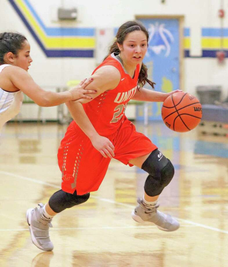 United's Natalia Trevino became the first girls' basketball player to be named to the TGAC All-State team for the third time, according to former head coach Rachel Carmona. Photo: Clara Sandoval / Laredo Morning Times File