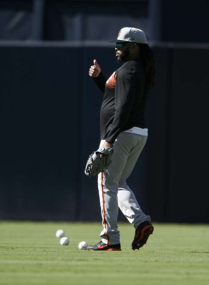 Giants pitcher Johnny Cueto, working out Thursday in San Diego, hasn't pitched in a game since April 4. Photo: Kelvin Kuo / Associated Press