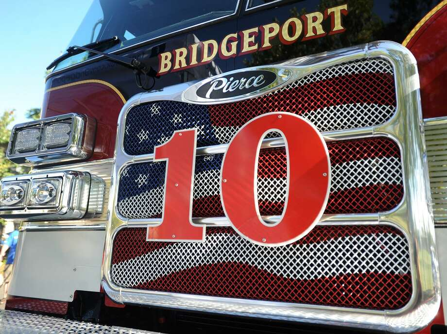 Ladder 10, the city's new state of the art fire truck, in an unveiling ceremony at the Bridgeport Fire Department's East Side station at 950 Boston Avenue in Bridgeport, Conn. on Wednesday, September 27, 2017. Photo: Brian A. Pounds / Hearst Connecticut Media / Connecticut Post