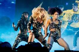 Beyonce performs with the original members of Destiny's Child Saturday during the Coachella Music and Arts Festival in Indio, California, April 14, 2018.