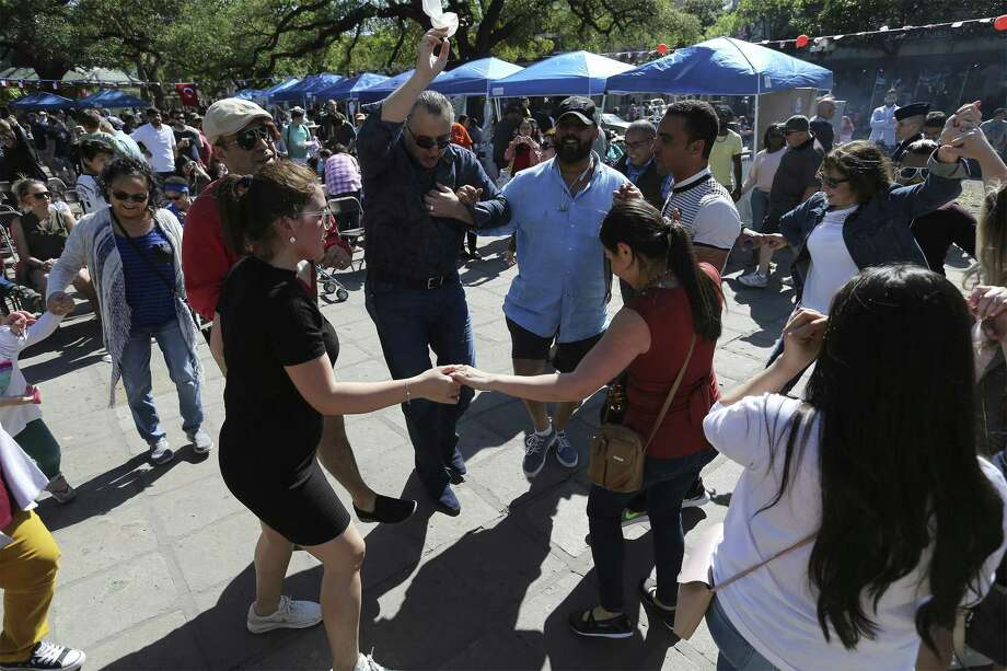 The Raindrop Foundation's eighth annual Turkish Festival brings together an array of Turkish cuisine (from kebabs to baklava) in a festive atmosphere with arts and crafts, family activities, live music and dance performances in Alamo Plaza on Saturday, Apr. 14, 2018. (Kin Man Hui/San Antonio Express-News) Photo: Kin Man Hui, Staff / San Antonio Express-News / ©2018 San Antonio Express-News
