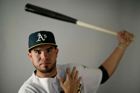 This is a 2016 photo of Renato Nunez of the Oakland Athletics baseball team. This image reflects the Oakland Athletics active roster as of Monday, Feb. 29, 2016, when this image was taken. (AP Photo/Chris Carlson)