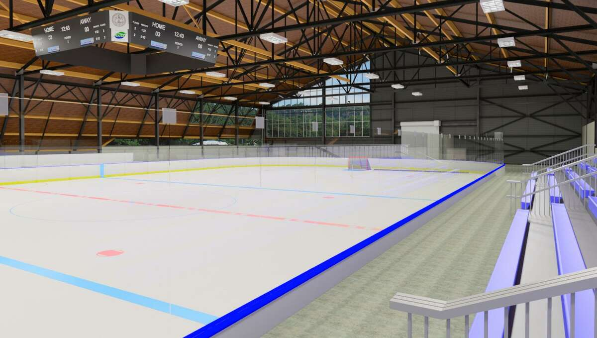 Renderings of the redeveloped Ralph Walker Ice Rink in New Haven.