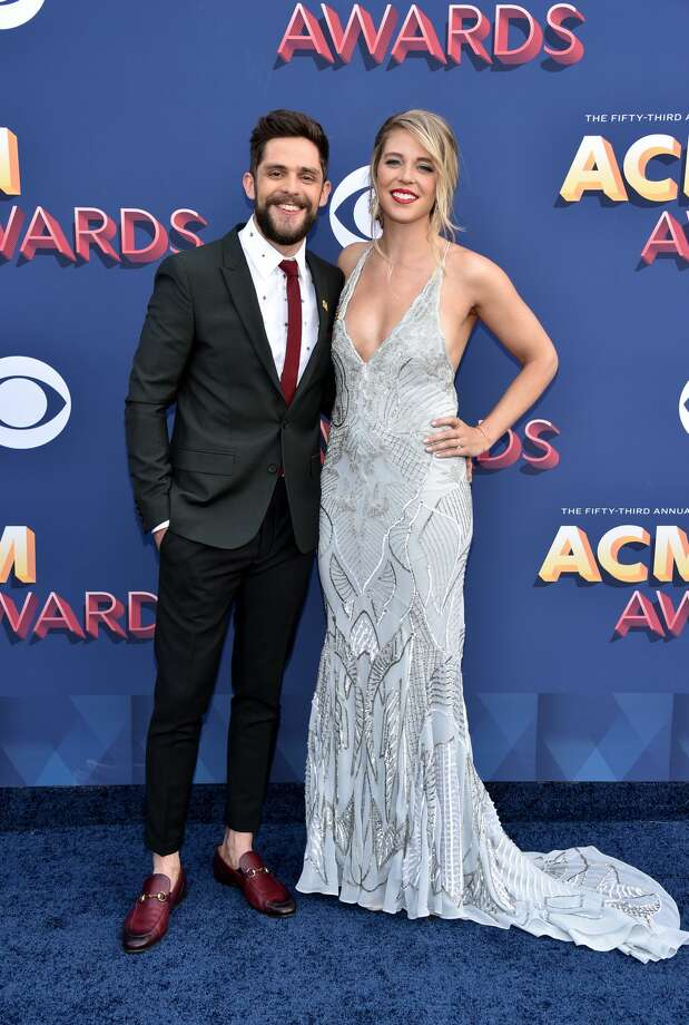 Best: How beautiful are Thomas Rhett (L) and Lauren Akins? This couple knows how to do a red carpet together.  Photo: John Shearer/WireImage