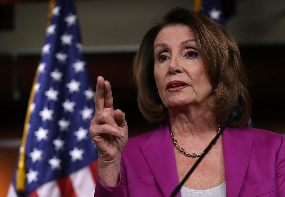 House Minority Leader Nancy Pelosi, D-San Francisco, is shown last week in Washington. She said Sunday that before the Syria air strikes, members of Congress appealed for a classified briefing but were denied. Photo: Win McNamee / Getty Images