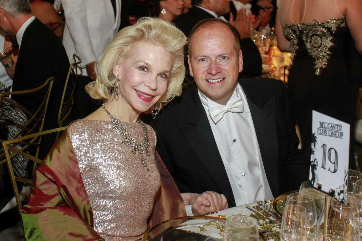 Lynn Wyatt and Patrick Summers at the Houston Grand Opera Ball.