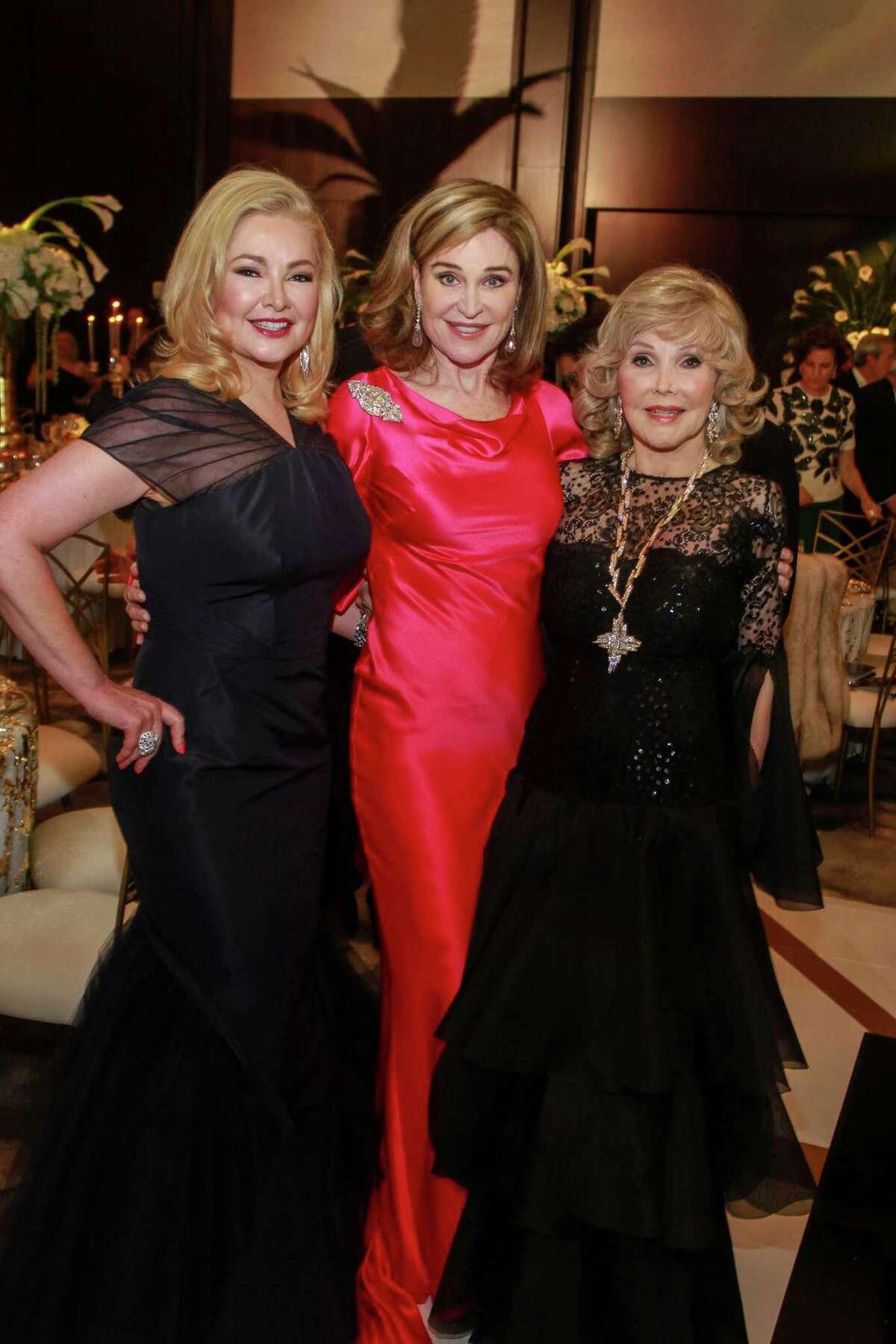 Whitney Crane, from left, Becca Cason Thrash and Joanne King Herring at the Houston Grand Opera Ball.