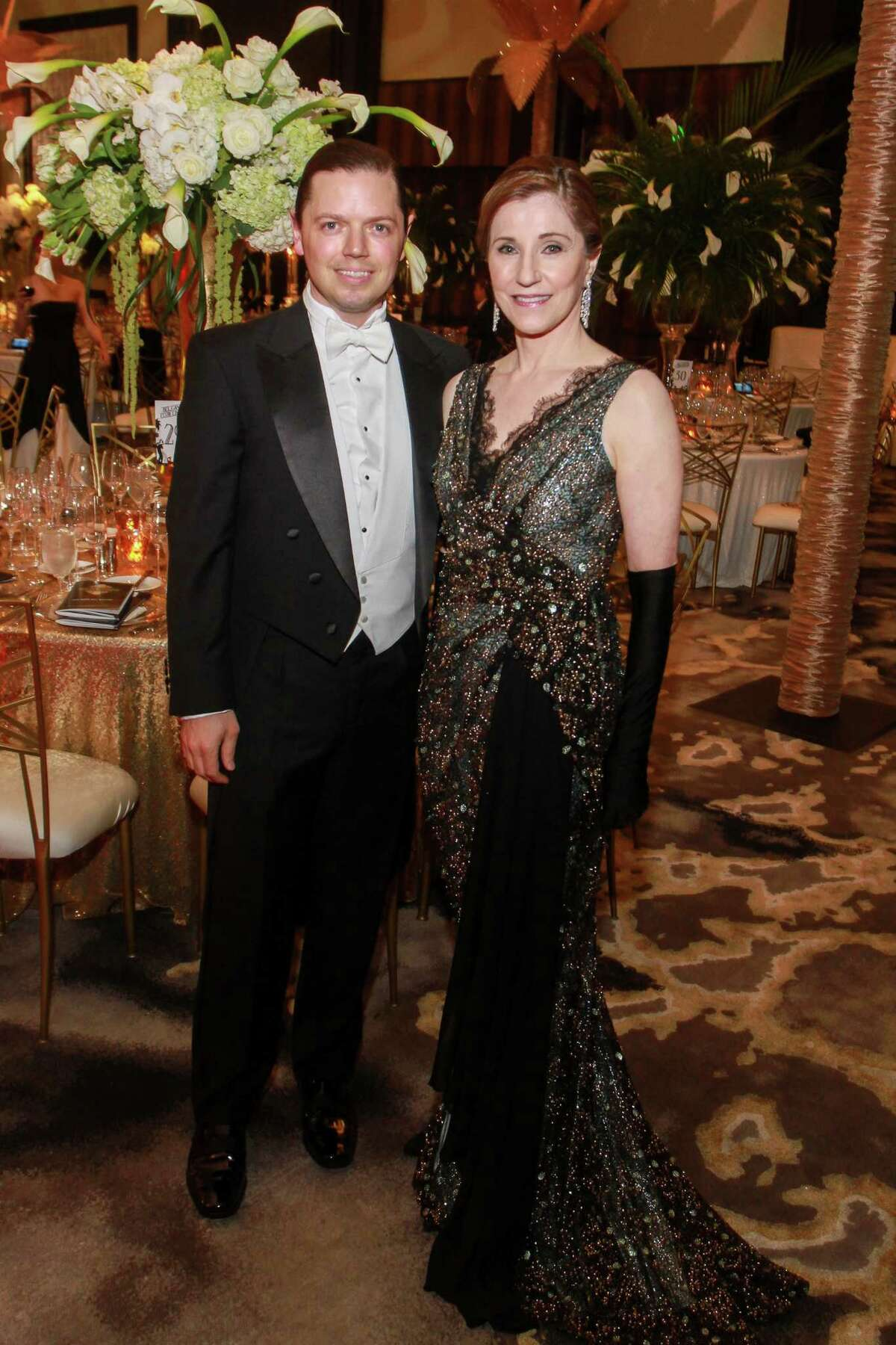 David Peck and chair Dr. Elizabeth Grimm at the Houston Grand Opera Ball.