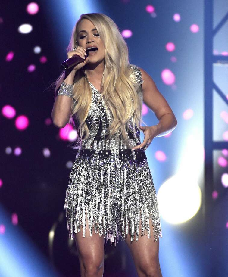 "Carrie Underwood performs ""Cry Pretty"" at the 53rd annual Academy of Country Music Awards at the MGM Grand Garden Arena on Sunday, April 15, 2018, in Las Vegas. (Photo by Chris Pizzello/Invision/AP) Photo: Chris Pizzello, Associated Press"