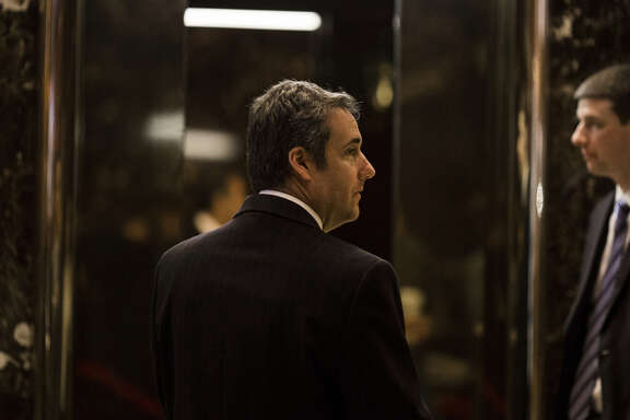 Attorney Michael Cohen arrives at Trump Tower in New York on Jan. 12, 2017.