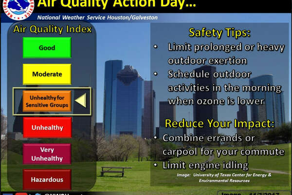 April 16, 2018 is the first Ozone Action Day of the year for Houston. The National Weather Service recommends people use their cars as little as possible and to do outdoor activities in the morning, when ozone is lower.