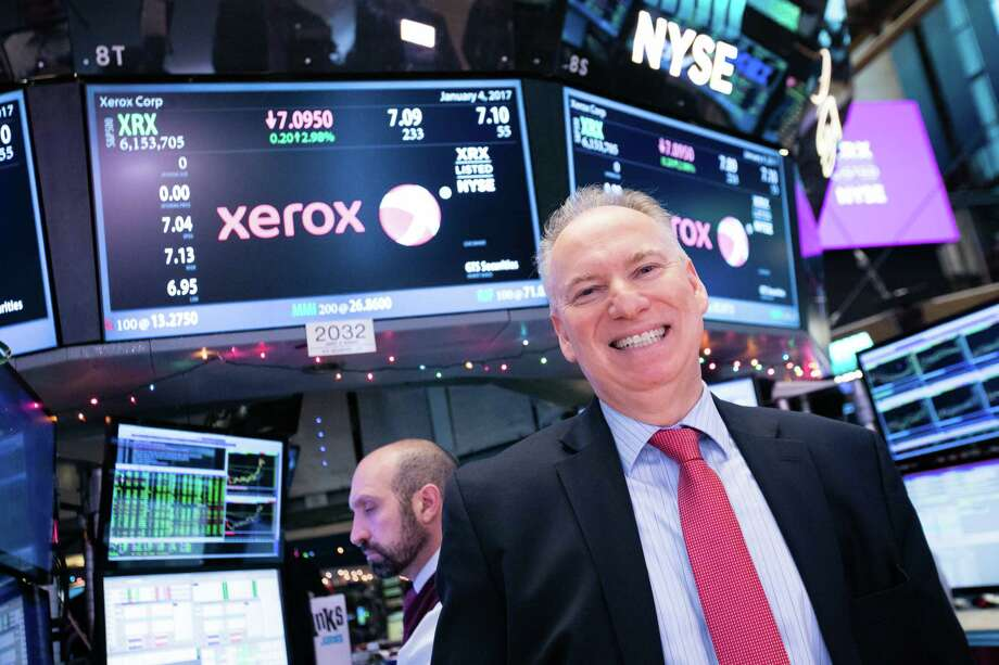 Xerox CEO Jeff Jacobson on Jan. 4, 2017, on the floor of the New York Stock Exchange. (File photo via Xerox) Photo: /
