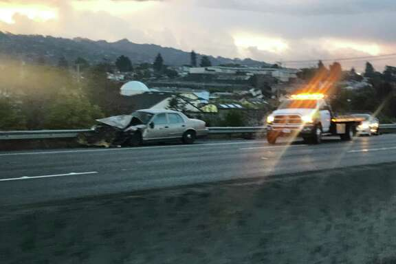 A four-vehicle crash caused all lanes of Interstate 80 to shut down early Monday in Richmond, authorities said.