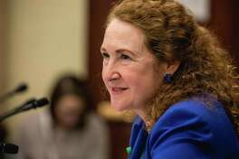 Rep. Elizabeth Esty, D-Conn., speaks at a forum on Capitol Hill in Washington, D.C., on March 20.
