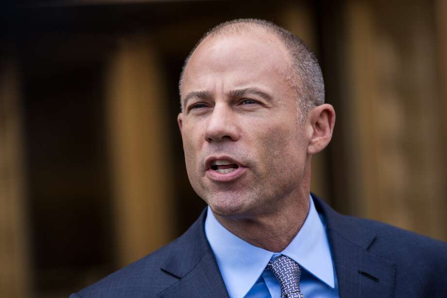 Michael Avenatti, attorney for Stormy Daniels, speaks to reporters following a court proceeding regarding the search warrants served on President Donald Trump's longtime personal attorney Michael Cohen, at the United States District Court Southern District of New York, April 13, 2018 in New York City. Photo: Drew Angerer/Getty Images