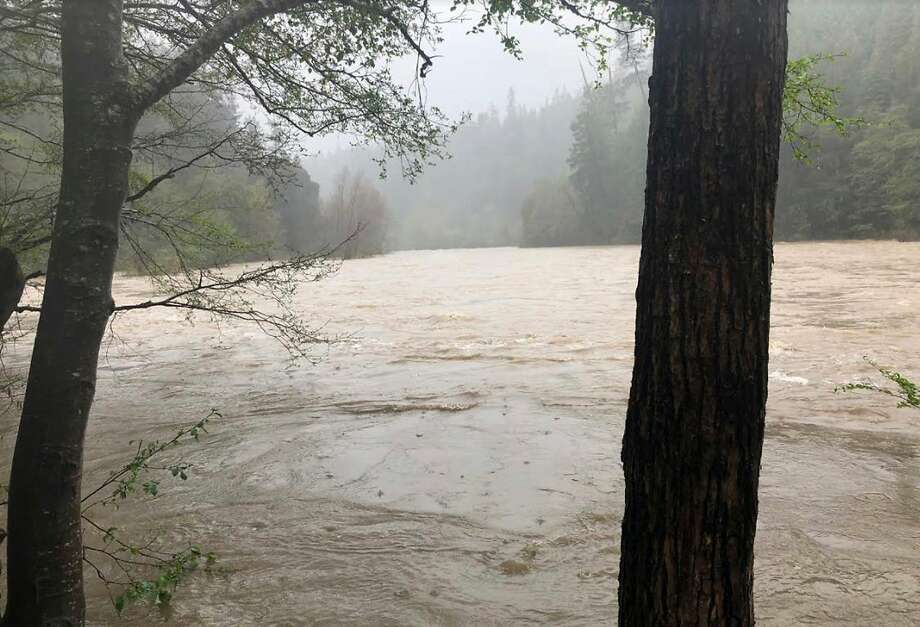 File - This photo released April 12, 2018, by The Mendocino County Sheriff's Office shows the Eel River in Northern California. Authorities searching for a family whose SUV plunged into the rain-swollen river found the vehicle and the body of a man and a girl inside it. The Mendocino County Sheriff's Office said Monday, April 16, 2018, that searchers located the car Sunday and recovered the bodies of Sandeep Thottapilly and Saachi Thottapilly. (Lt. Shannon Barney/Mendocino County Sheriff's Office via AP, File) Photo: Shannon Barney / Associated Press