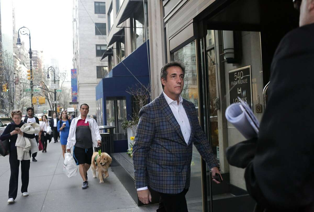 NEW YORK, NY - APRIL 13: Michael Cohen, U.S. President Donald Trump's personal attorney, walks in to the Loews Regency hotel on Park Ave on April 13, 2018 in New York City. Following FBI raids on his home, office and hotel room, the Department of Justice announced that they are placing him under criminal investigation. (Photo by Yana Paskova/Getty Images)