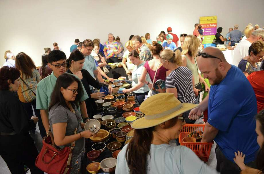 People can pick out a one-of-a-kind bowl for a $25 donation. The fundraiser will be held at the Houston Center for Contemporary Craft. Photo: Empty Bowls Houston / Empty Bowls Houston