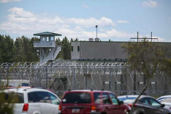 The Lee Correctional Institution, in Bishopville, South Carolina, remains on lockdown on April 16, 2018, after an overnight riot killed seven while also injuring seventeen other inmates. / AFP PHOTO / Logan CyrusLOGAN CYRUS/AFP/Getty Images