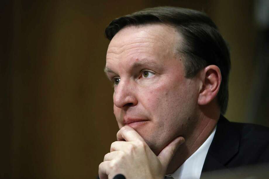 Sen. Chris Murphy, D-Conn., listens to testimony from Secretary of State-designate Mike Pompeo during a Senate Foreign Relations Committee confirmation hearing on Pompeo's nomination Thursday on Capitol Hill in Washington. Photo: Jacquelyn Martin / Associated Press / Copyright 2018 The Associated Press. All rights reserved.