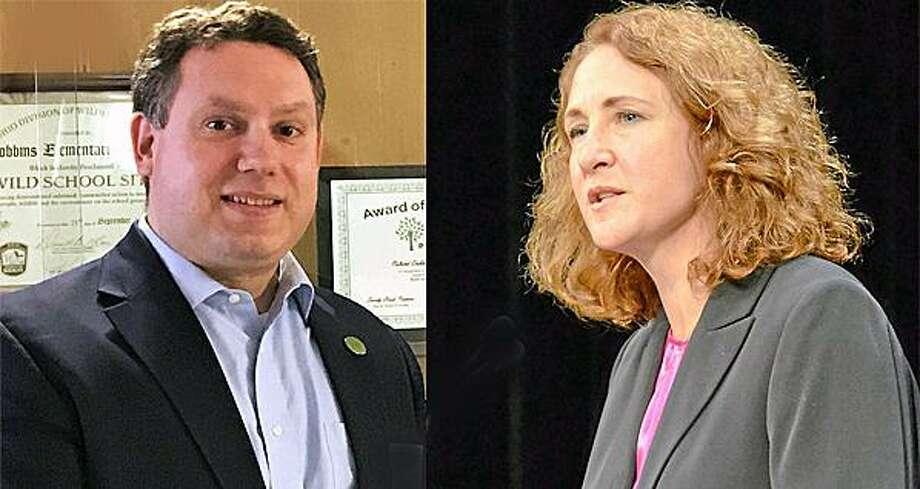 Tony Baker and U.S. Rep. Elizabeth Esty Photo: / File Photos