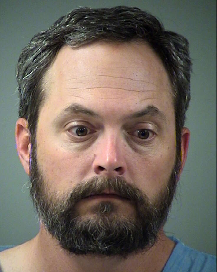 Scott Everrett Dow, 42, was booked into the Bexar County Jail around midnight Saturday on a $50,000 bond. He bailed out later that day. Photo: Bexar County Jail