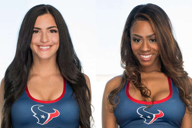 Phoebe H., from Groves, and Tyegha T, from Beaumont, are among 55 finalists from nearly 500 women who tried out last Saturday for the 2018 Houston Texans Cheerleaders. Fan voting is now open. (Photo provided by Houston Texans)