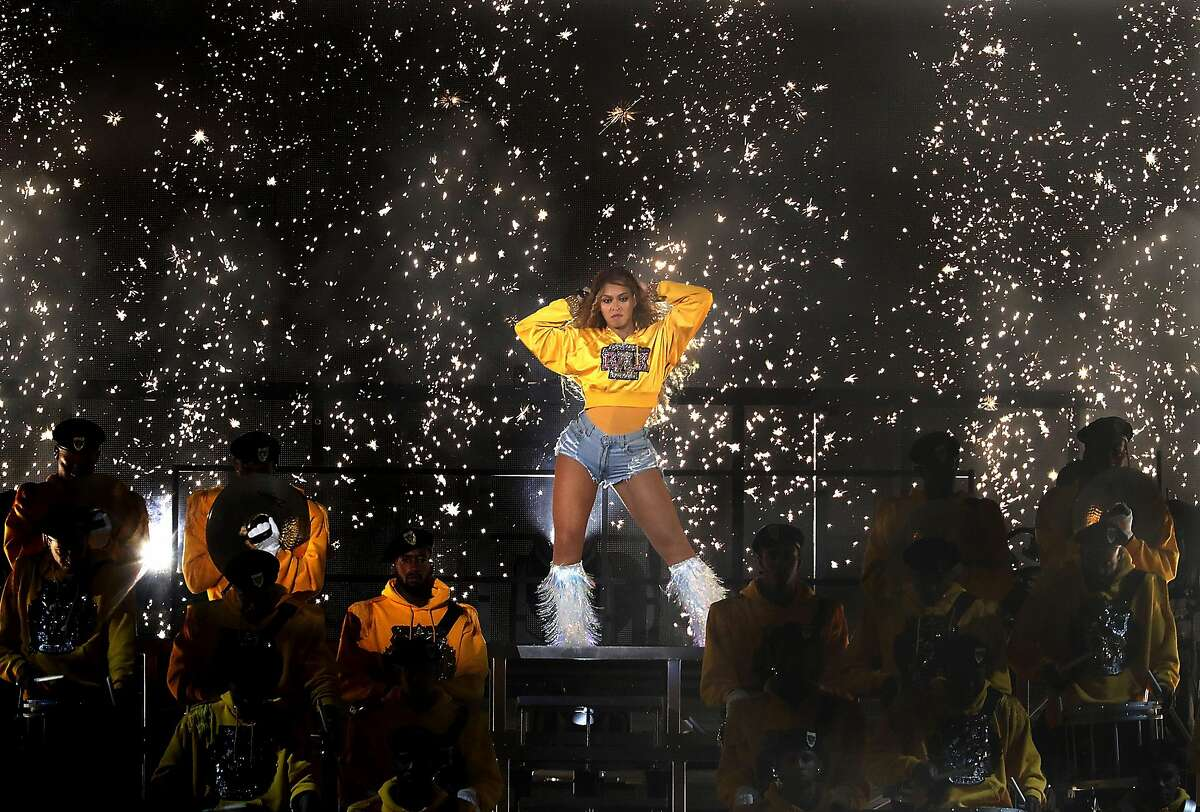 Beyonce performs at the Coachella Music and Arts Festival on Saturday, April 14, 2018 in Indio, Calif. (Luis Sinco/Los Angeles Times/TNS)