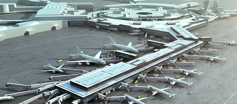 Rendering of SFO Terminal 1, the Harvey Milk Terminal, which will be completed in phases 2019-2024 Photo: San Francisco International Airport