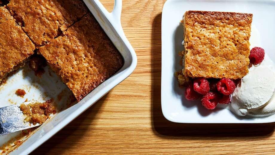 Warm Blondie Pudding Cake Photo: Stacy Zarin Goldberg / For The Washington Post / For The Washington Post