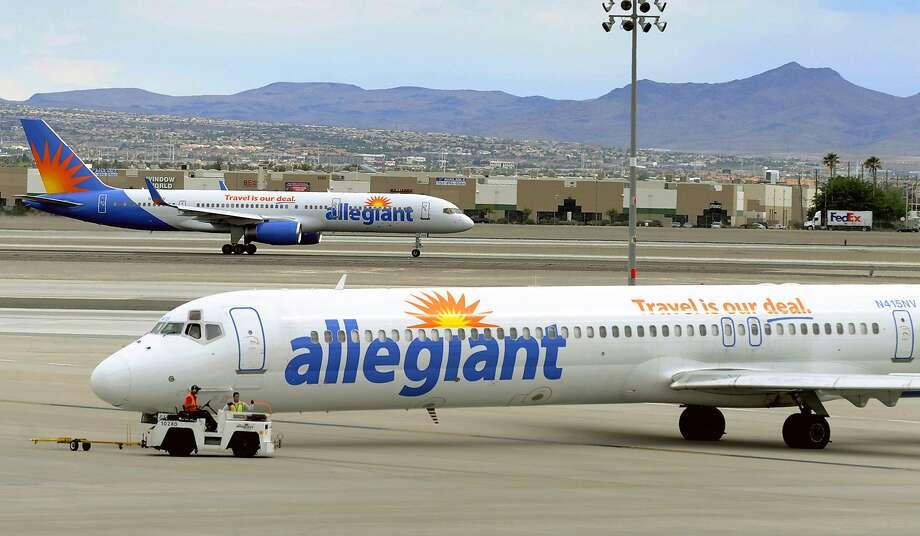 Allegiant Air will launch new nonstops between Oakland and Memphis. (AP Photo/David Becker, File) Photo: David Becker, Associated Press