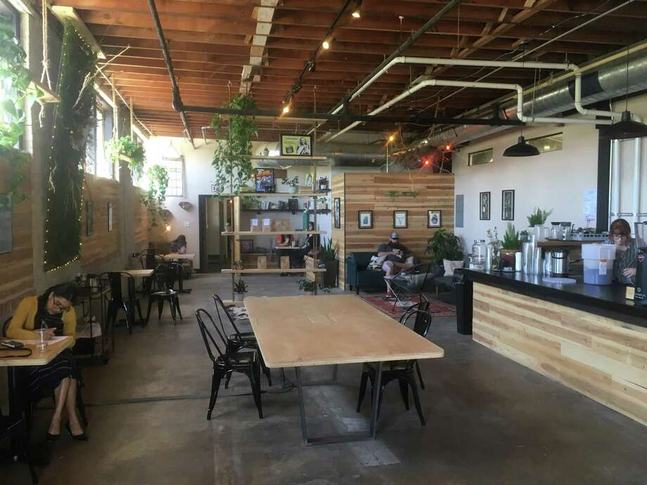 Shotgun House Coffee Roasters occupies space of a former fitness gym at 1333 Buena Vista St. Photo: Chuck Blount /San Antonio Express-News