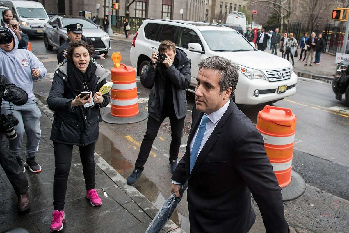 NEW YORK, NY - APRIL 16: Michael Cohen, longtime personal lawyer and confidante for President Donald Trump, arrives at the United States District Court Southern District of New York, April 16, 2018 in New York City. Cohen and lawyers representing President Trump are asking the court to block Justice Department officials from reading documents and materials related to his Cohen�s relationship with President Trump that they believe should be protected by attorney-client privilege. Officials with the FBI, armed with a search warrant, raided Cohen's office and two private residences last week. (Photo by Drew Angerer/Getty Images) *** BESTPIX ***